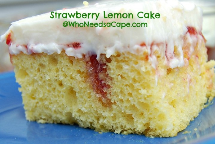 Strawberry Lemon Cake is a beautiful (and yummy) way to doctor up a plain old cake. Serve this easy dessert all summer! You'll love the flavors!