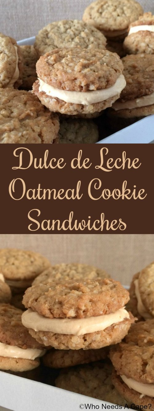 Dulce de Leche Oatmeal Cookie Sandwiches are beyond delicious but easy enough to prepare that you'll love these for dessert!