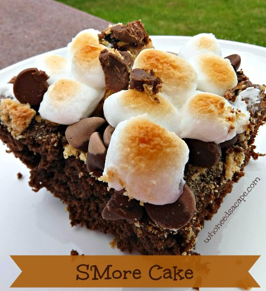 What says summer better than S'mores? How about S'Mores Cake! The perfect dessert that tastes like everyone's favorite summertime treat!