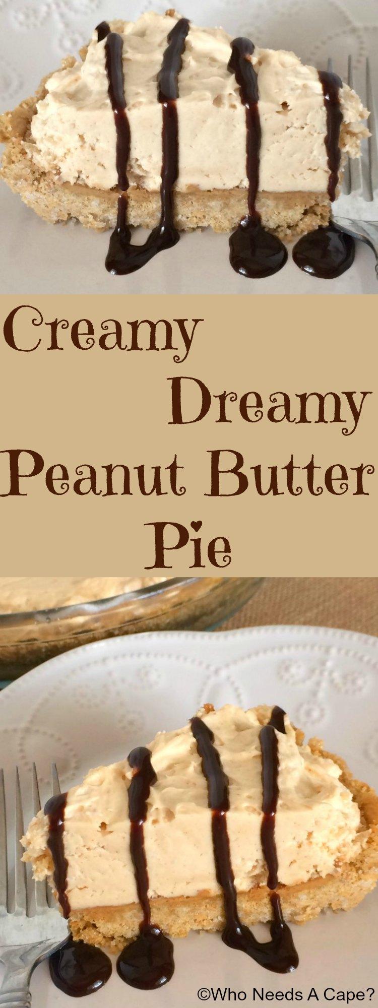 Creamy Peanut Butter Pie | Who Needs A Cape?