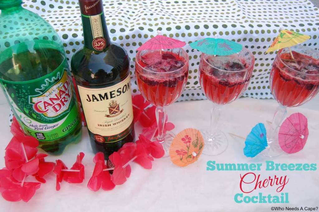 Having an informal summer party? Make this delicious Summer Breezes Cherry Cocktail as your signature drink. Easy to prepare and deliciously drinkable.