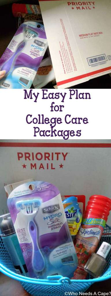 My Easy Plan for College Care Packages keeps me organized & ready to send items to my daughter in college. She'll love getting items form home regularly.