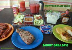 Fire up the Grill & Drink Fruity Lemonade Slush