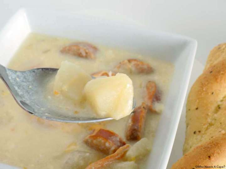 This Slow Cooker Potato & Sausage Soup is a hearty soup that is simple to prepare. By using Simply Potatoes you save loads of time chopping.
