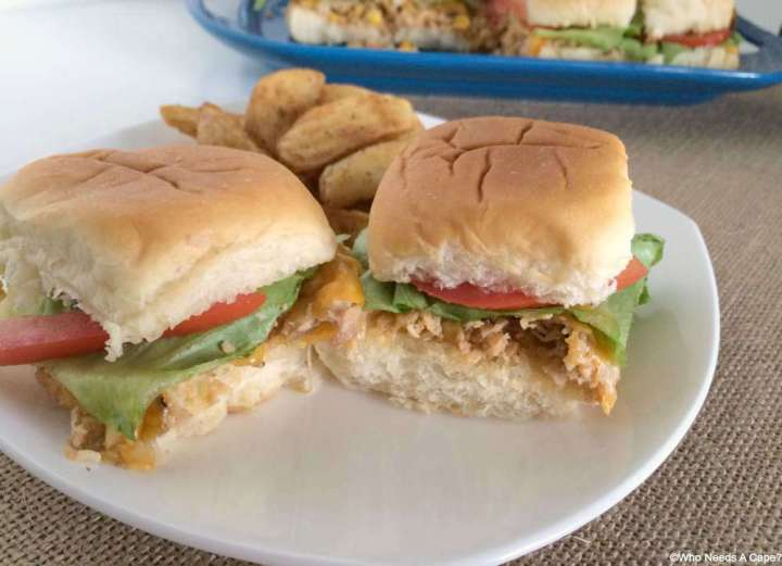 No time to make dinner? Think again! These Chicken & Barbecue Sweet Corn Sliders are ready in a snap and will make the family happy! My kids devoured them.