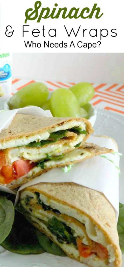 Make Spinach & Feta Wraps, a light and lovely lunch or dinner. Loaded with delicious flavors yet low-calorie. Great way to get protein into your diet.