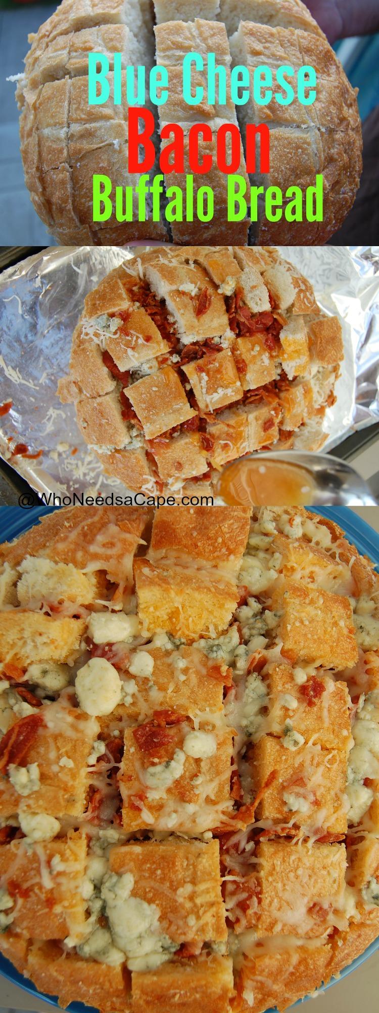 Blue Cheese Bacon Buffalo Bread 3