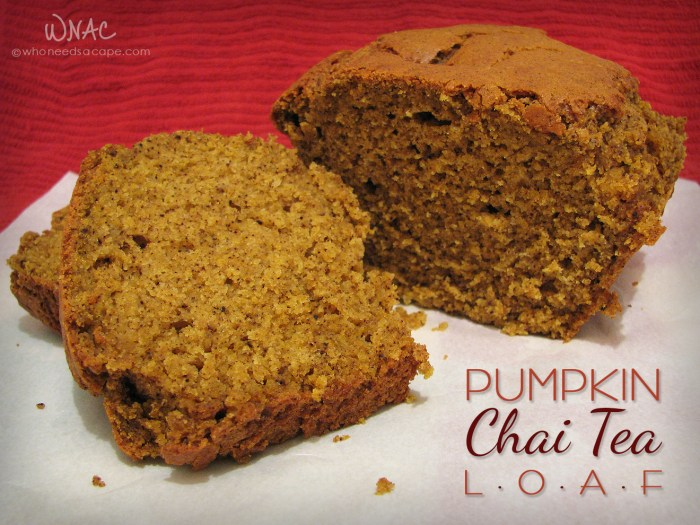 Pumpkin Chai Tea Loaf