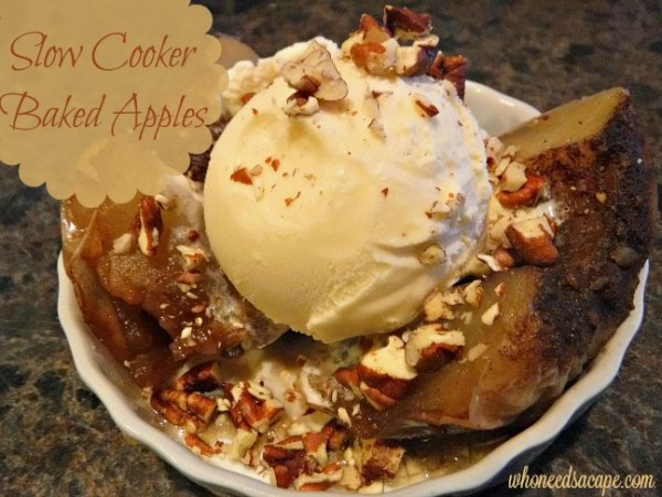 Slow Cooker Baked Apples | Who Needs A Cape?