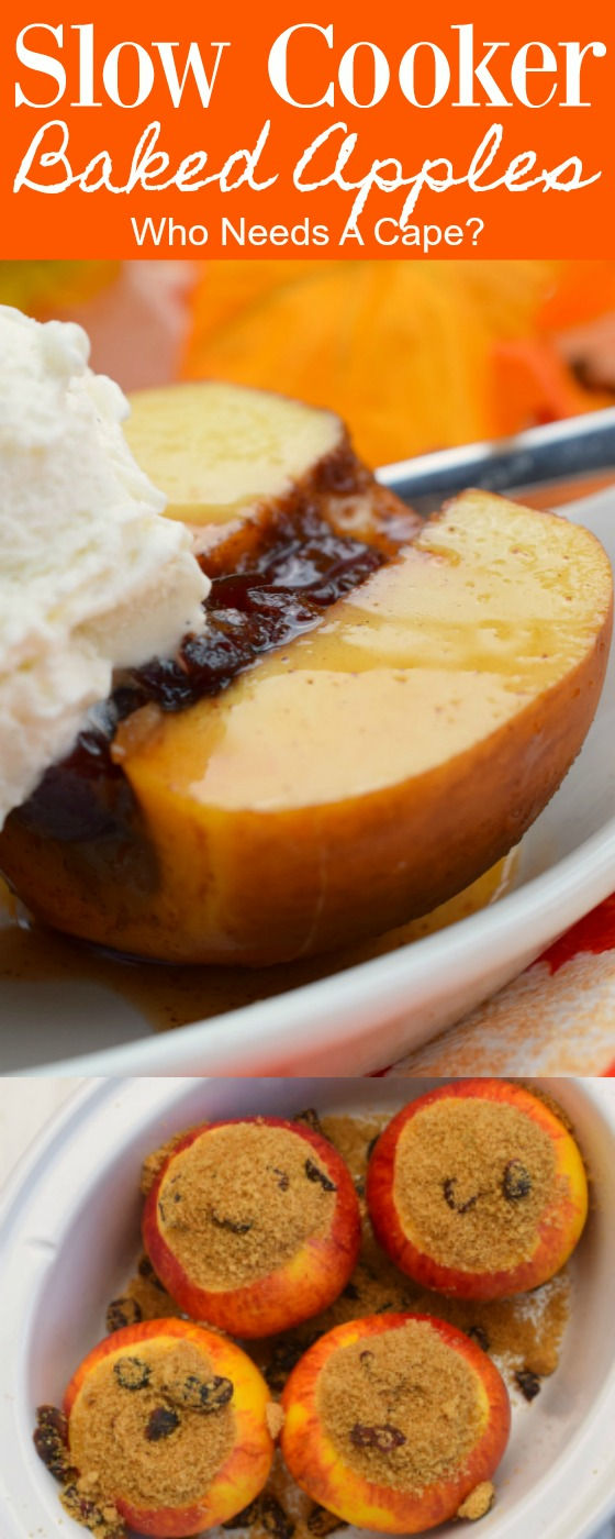 In the mood for an easy fall treat? Try these Slow Cooker Baked Apples! Delicious served with ice cream or a dollop of whipped cream! The perfect autumn dessert!