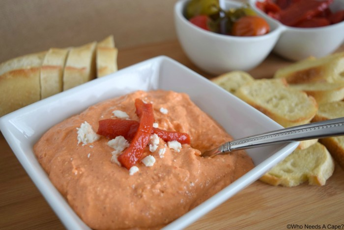 Creamy Roasted Bell Pepper Dip | Who Needs A Cape?
