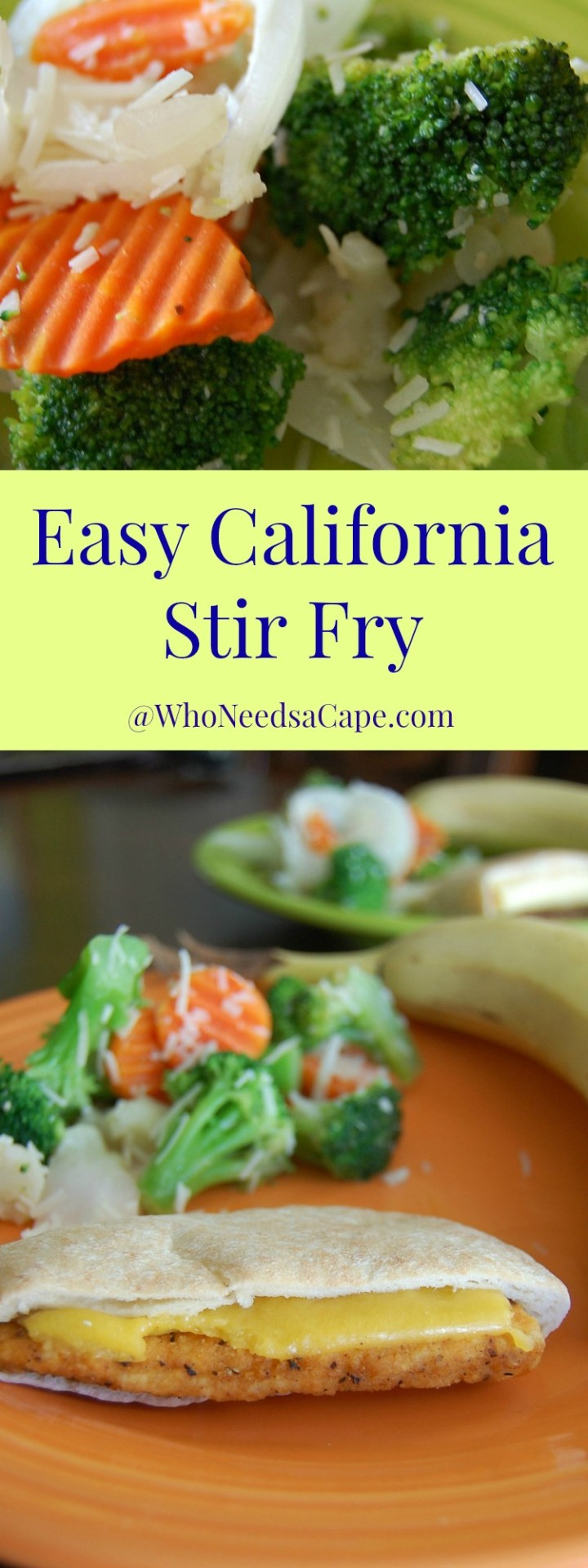 Easy California Stir Fry is a 20 minute side dish to make! It's Healthy and Yummy!