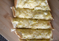 Loaded Artichoke Garlic Bread