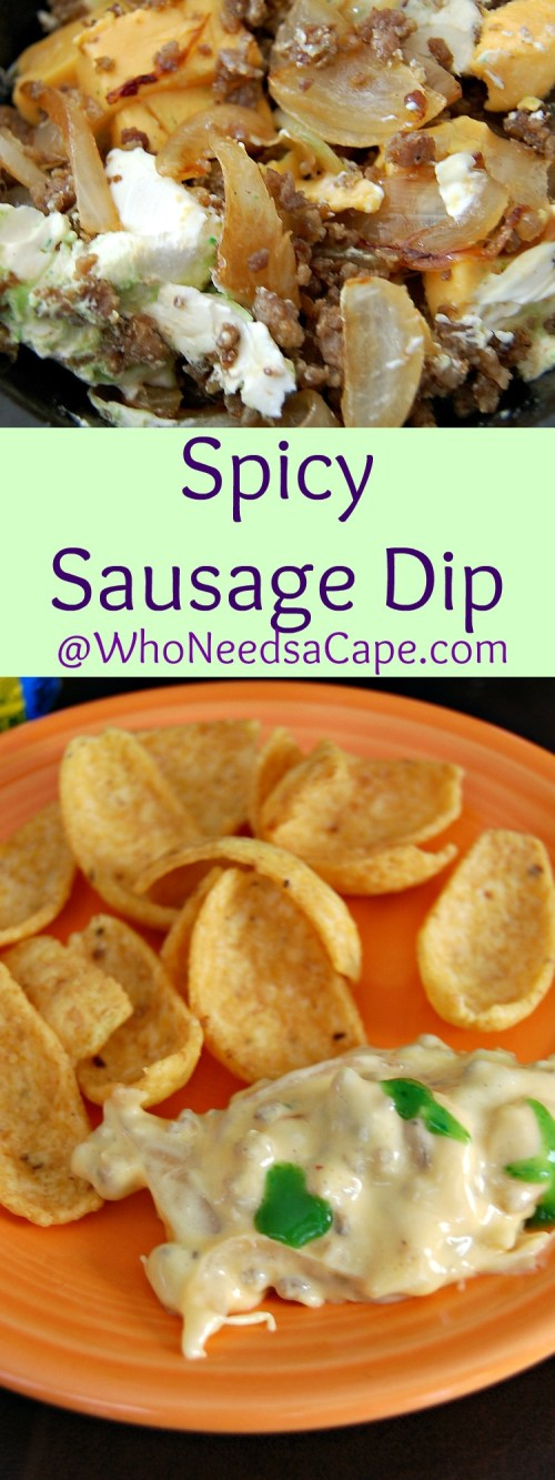 Spicy Sausage Dip is a fantastic SLOW COOKER Dip! Wow your family and friends with this extremely good dip! A MUST PIN!