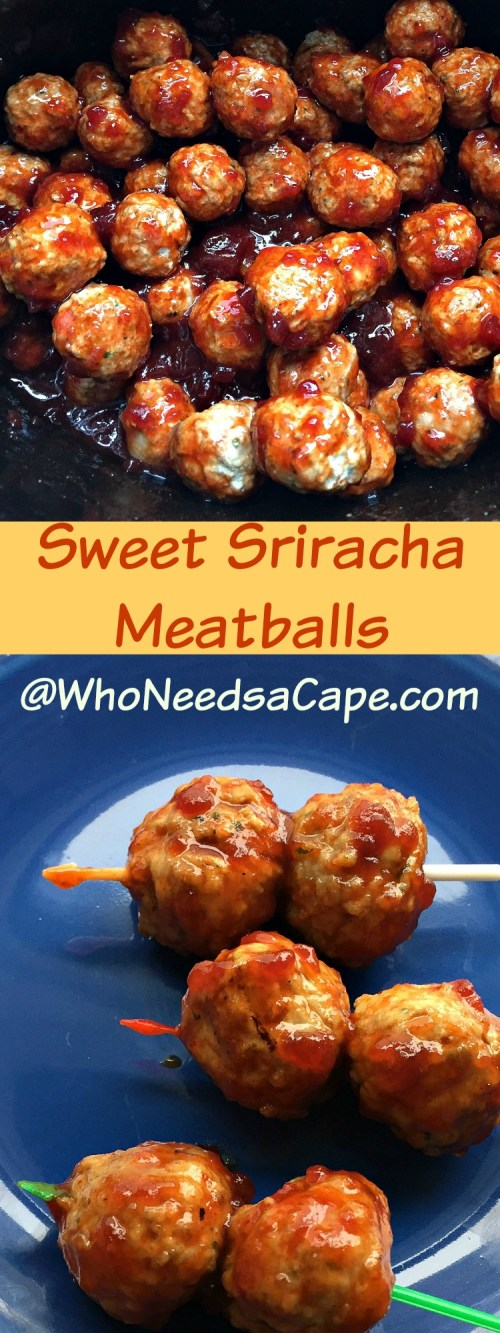 Sweet Sriracha Slow Cooker Meatballs are perfect for game day, happy hour, or just a Saturday night! Loaded with flavor & easy to prepare!