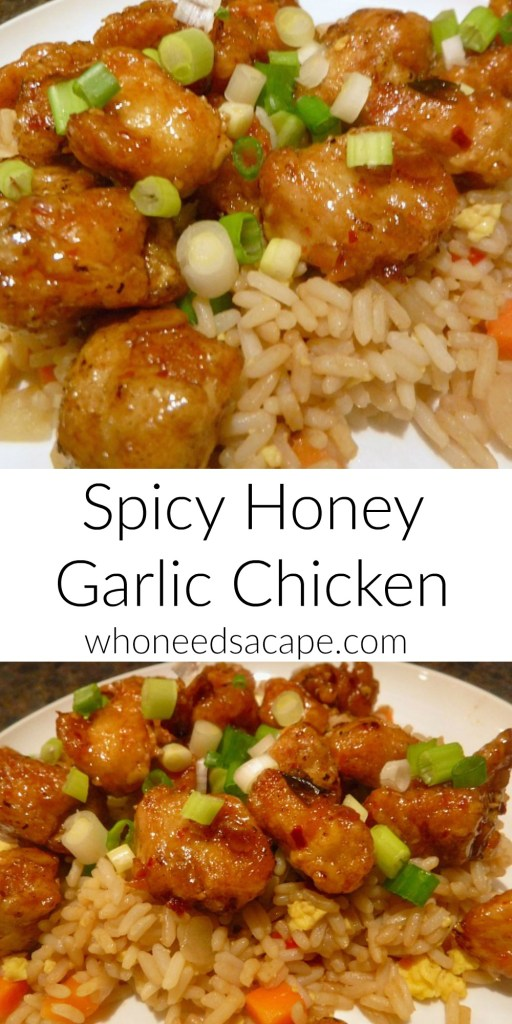 Spicy Honey Garlic Chicken - Try this delicious dish at home and skip the take out. #Freaky Friday