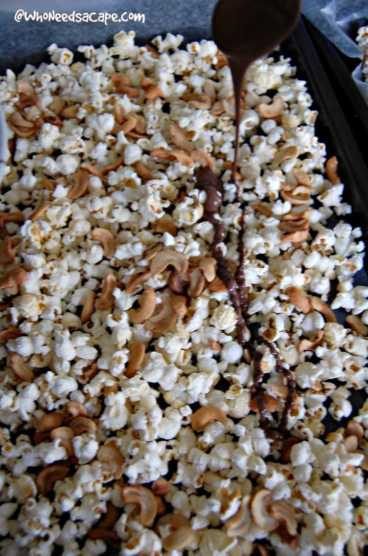 Chocolate Cashew Popcorn 4