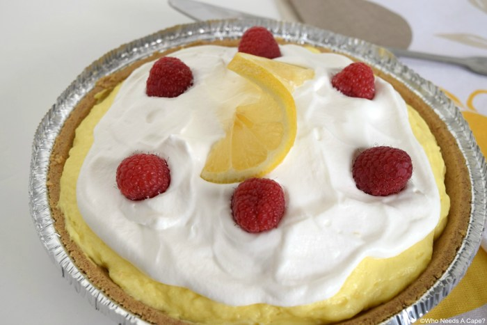This Creamy Lemon Layered Pie is creamy and delicious but also a breeze to make. A new dessert favorite at our house.