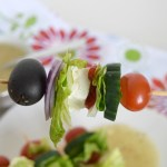 Deconstructed Greek Salad Sticks