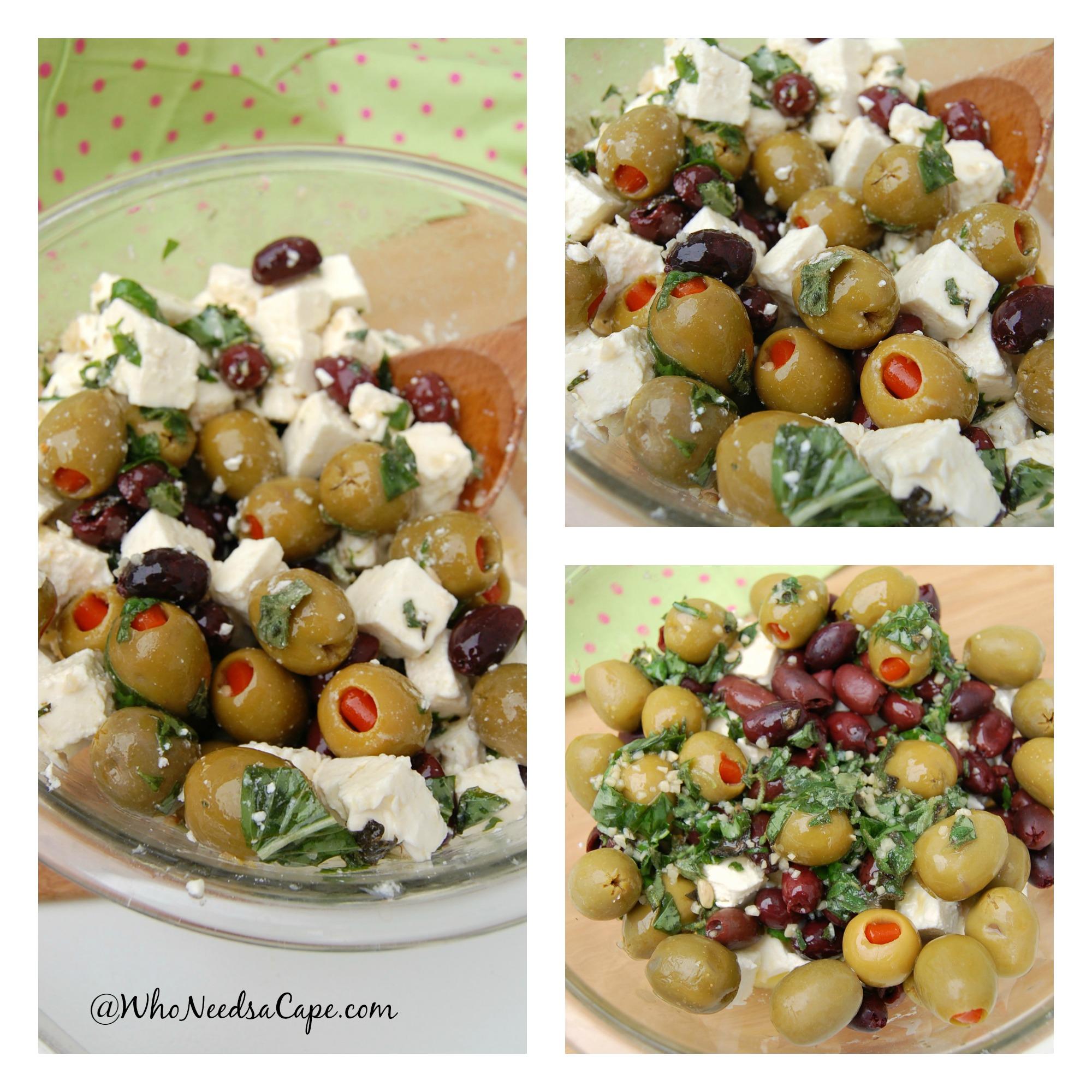 Feta Olive Salad is Delicious