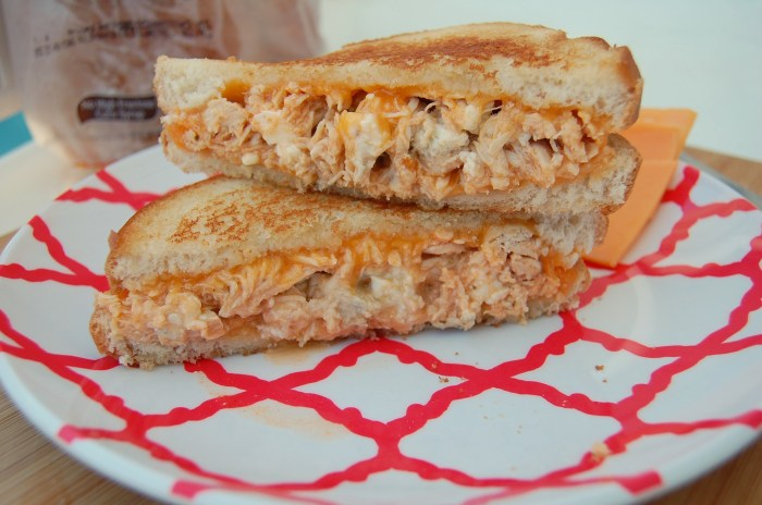 Buffalo Chicken Grilled Cheese | Who Needs A Cape?