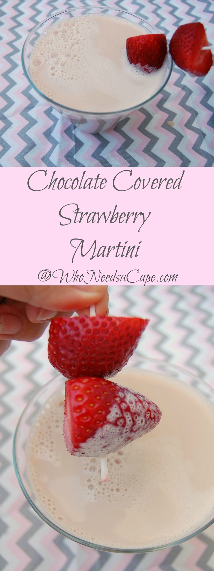 Chocolate Covered Strawberry Martini is a fantastic way to drink your dessert. Tastes amazing and will be a hit with everyone