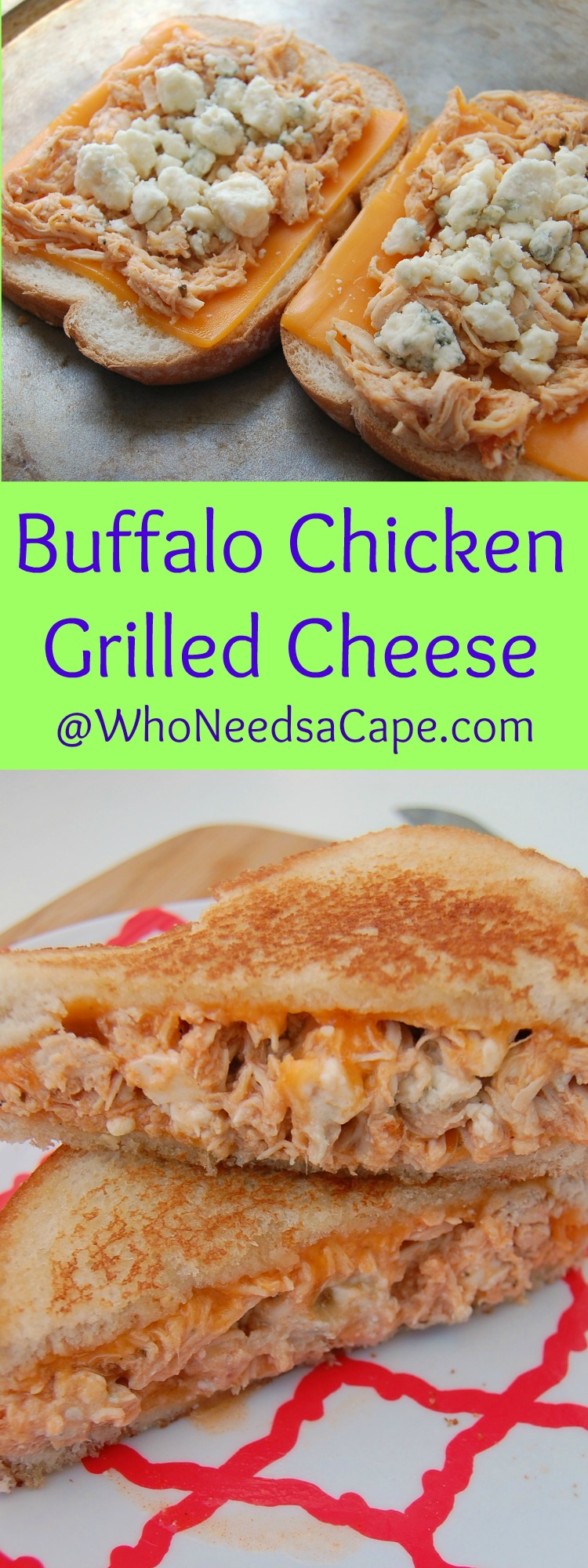 Make Buffalo Chicken in your Slow Cooker and then amaze your family by making it Grilled Cheese - comfort food the way it should be made!