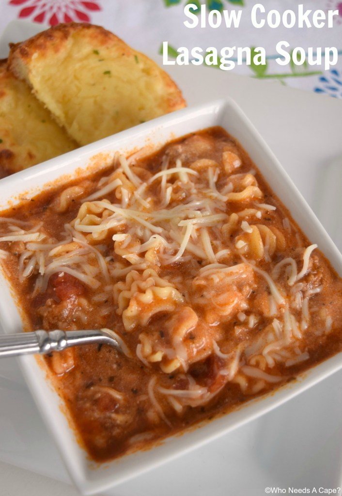 Slow Cooker Lasagna Soup has the same great flavors as the traditional meal without all the work. Comfort food straight from your crockpot.