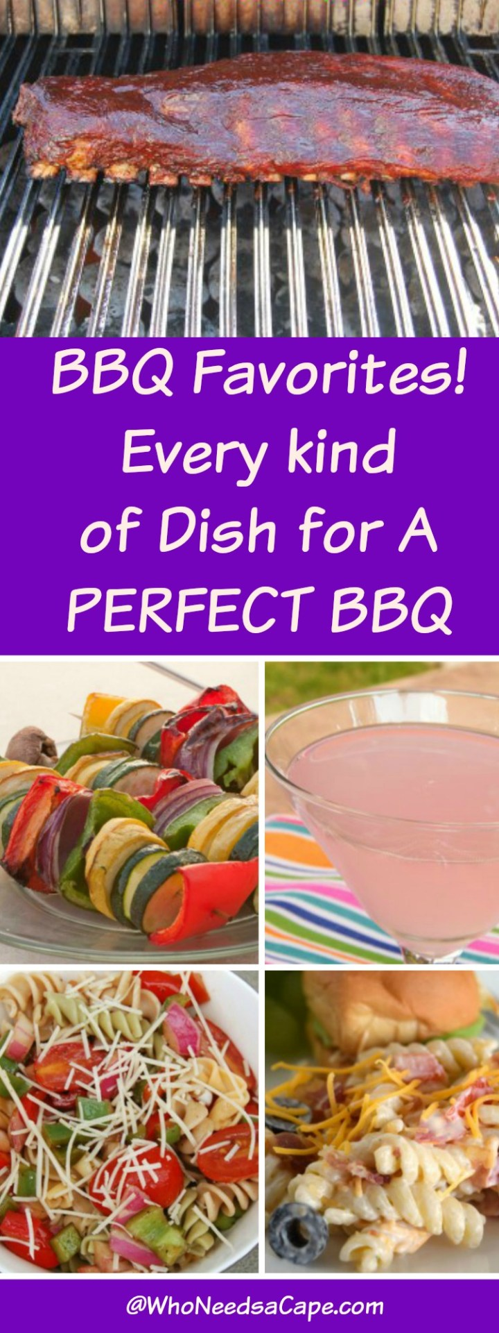 All you need to have a BBQ - from grilled food to salads and desserts and cocktails too You NEED to pin this for summer!