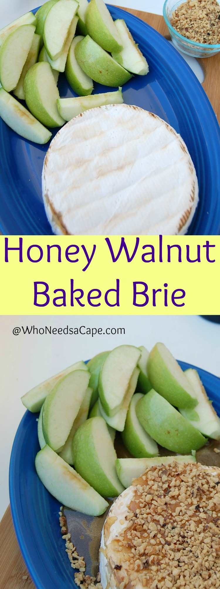 Honey Walnut Baked Brie is so delish - it's easier than you think and you're going to love it! Perfect Wine Night in!