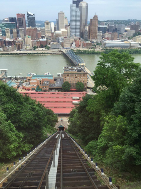 View going down the Incline