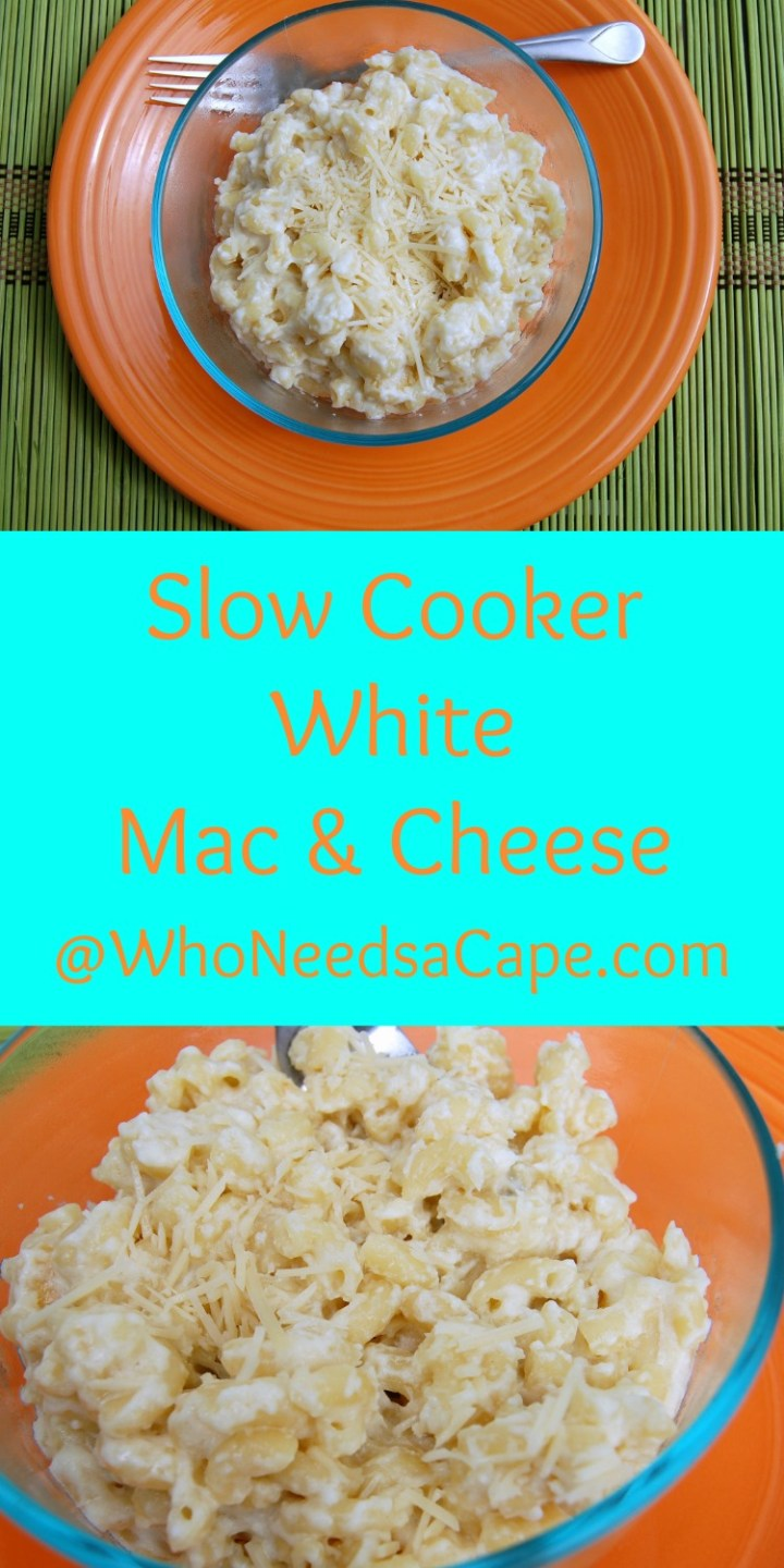 Slow Cooker White Mac & Cheese isn't JUST for the kids (although they will love it!) Make this delish and easy recipe!
