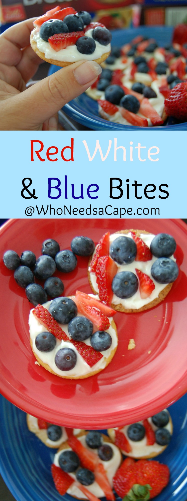 The Simplest Desserts to serve are sometimes the best - Red White and Blue Bites are super tasty and easy! Perfect summer snack or treat!