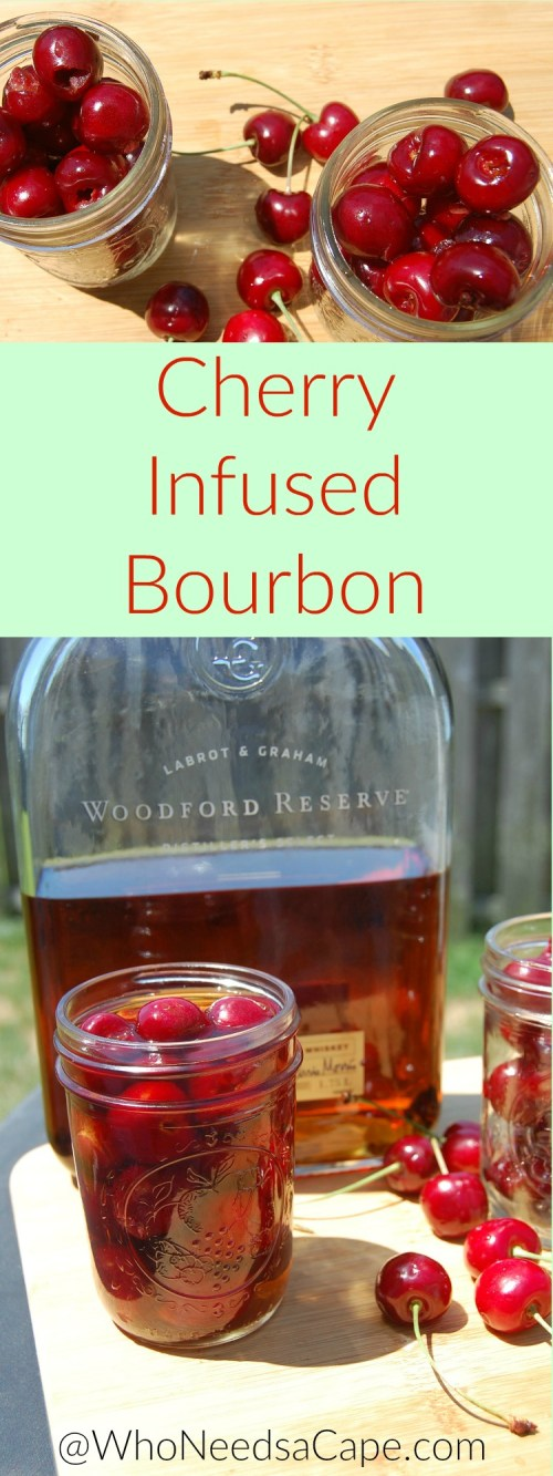 Cherry Infused Bourbon is an amazing way to drink your favorite bourbon. Keeping its delish Bourbon flavor - the cherry just adds a touch of sweet!