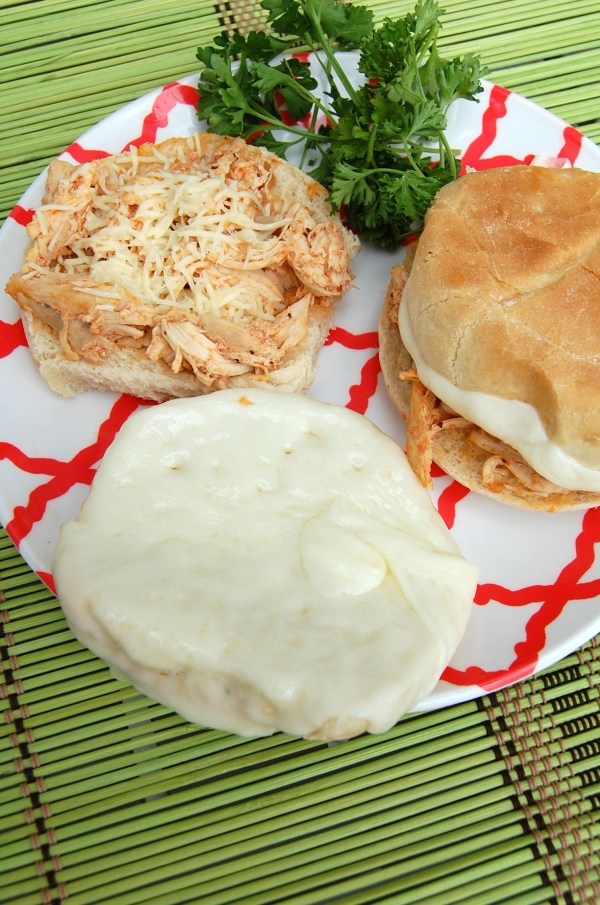 Slow Cooker Pulled Chicken Parmesan