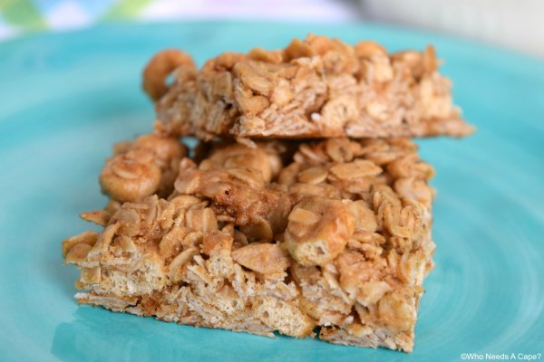 Peanut Butter & Honey Oat Bars are easy to make and perfect for breakfast, snacking or packing into lunch boxes. Mix in whatever your family enjoys.