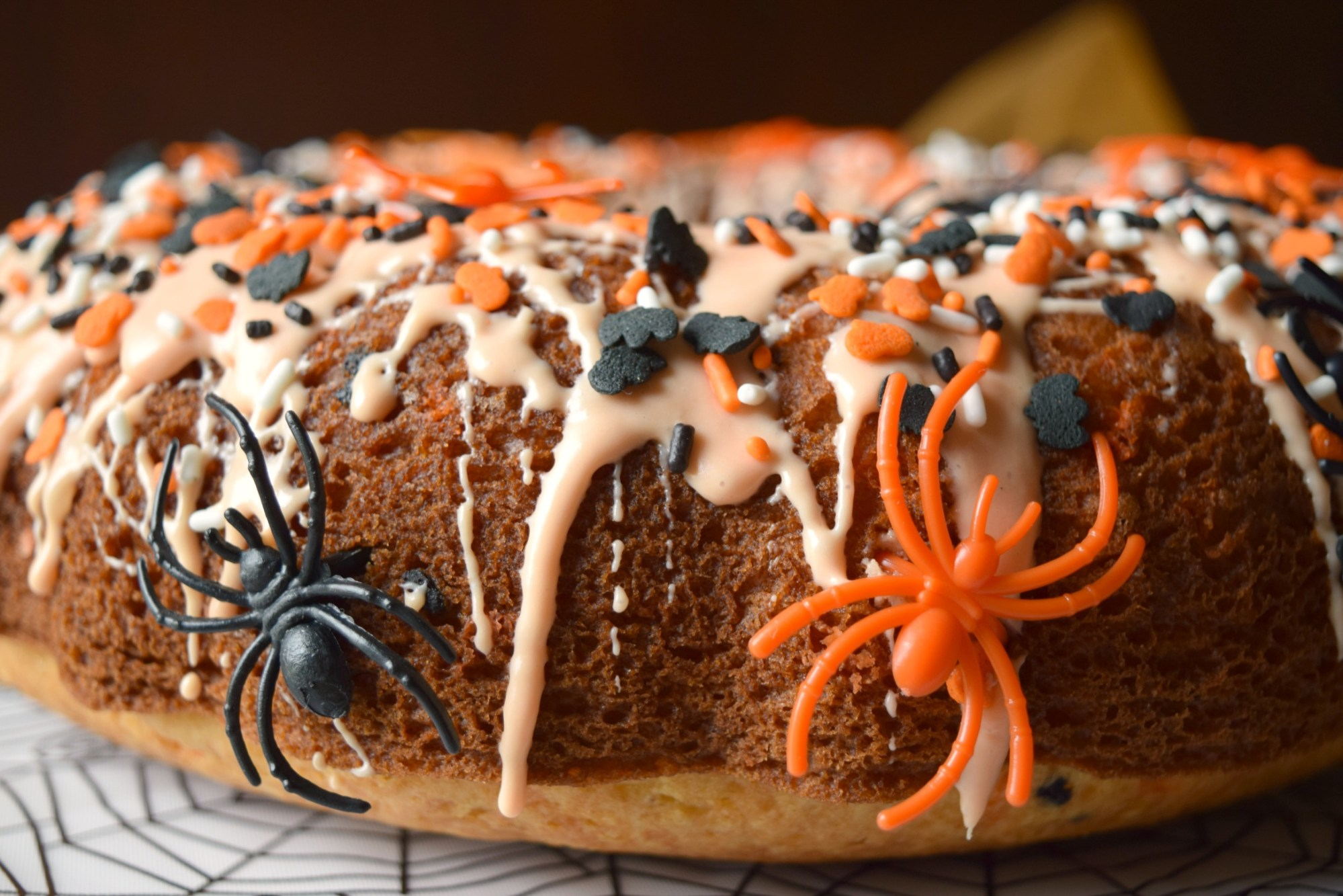 Spooky Spider Cake, by Who Needs A Cape