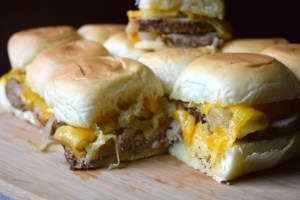 Pork Tenderloin Sliders with Apples & Onions are sure to be a new favorite! With tender pieces of pork and chunks of caramelized apples & onions. Delish!