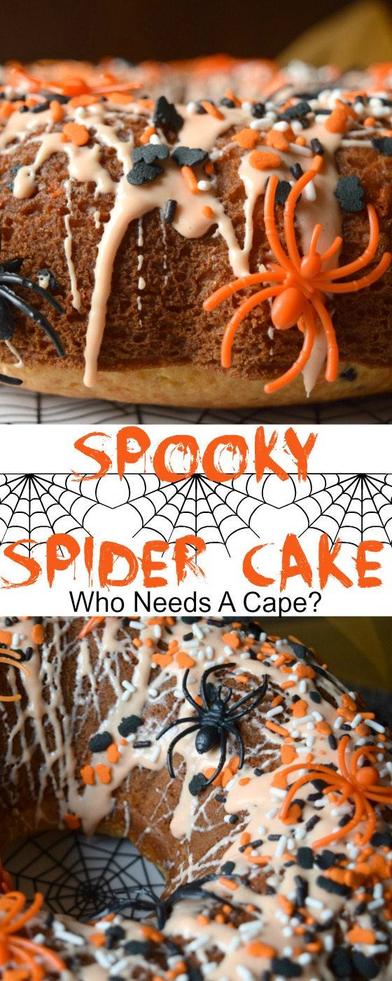 Make your next Halloween party spooktacular with this Spooky Spider Cake! Easy to make and tasty too! The perfect party cake!