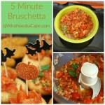 5 Minute Bruschetta