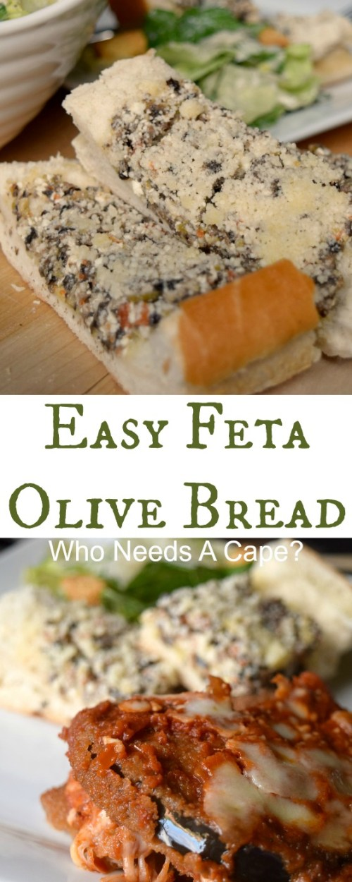 Tired of serving garlic bread with dinner? Make some super easy and tasty Easy Feta Olive Bread, simple to prepare and loaded with flavor.