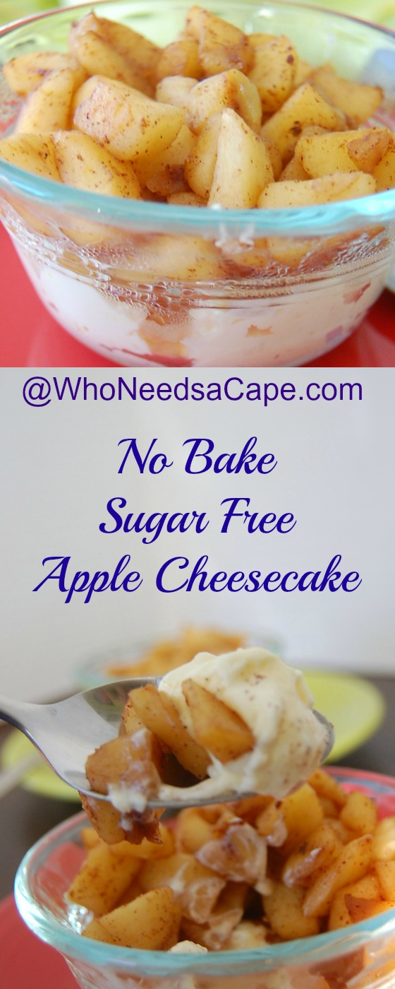 no-bake-sugar-free-apple-cheesecake
