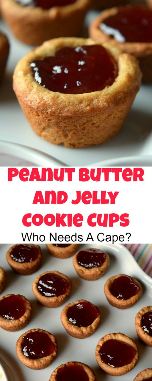 If you love a good PB&J and cookies then you simply must try Peanut Butter and Jelly Cookie Cups! Deliciously easy, you'll love them!