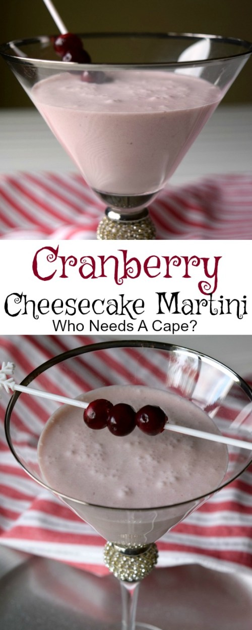 Make a Cranberry Cheesecake Martini for your next party! This cocktail is decadent and yet so easy to make, perfect for the holiday season.