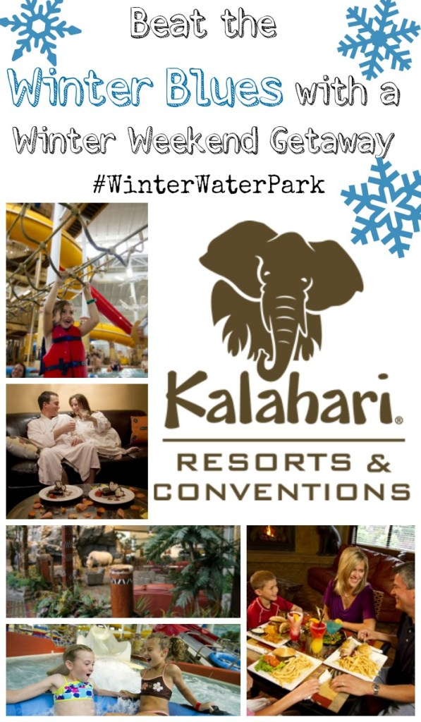 Beat the Winter Blues with a Winter Weekend Getaway to Kalahari Resorts Sandusky! Just a short drive away providing great family activities.