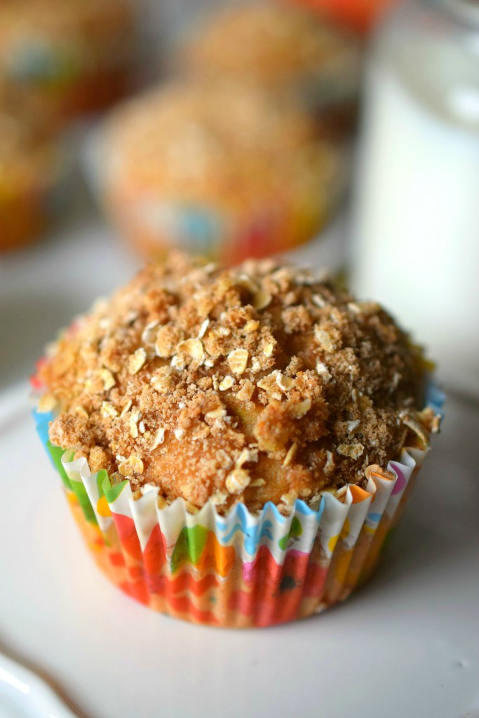 Whether for breakfast or snacking Applesauce Muffins with Streusel Topping are a family favorite. Easy to make, you'll love their flavor!