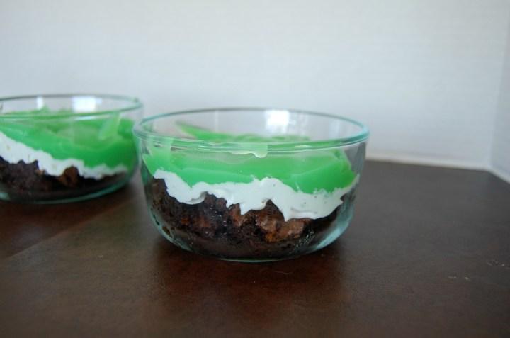 Mint Chocolate Brownie Parfait 3