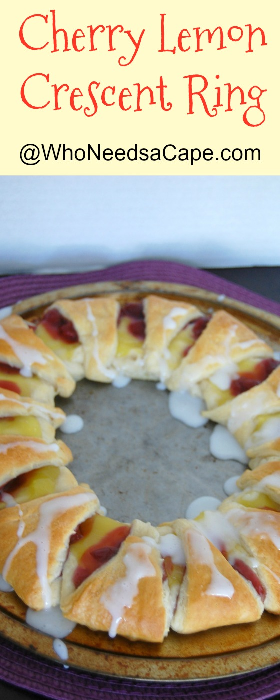 Cherry Lemon Crescent Ring Perfect Brunch Dish