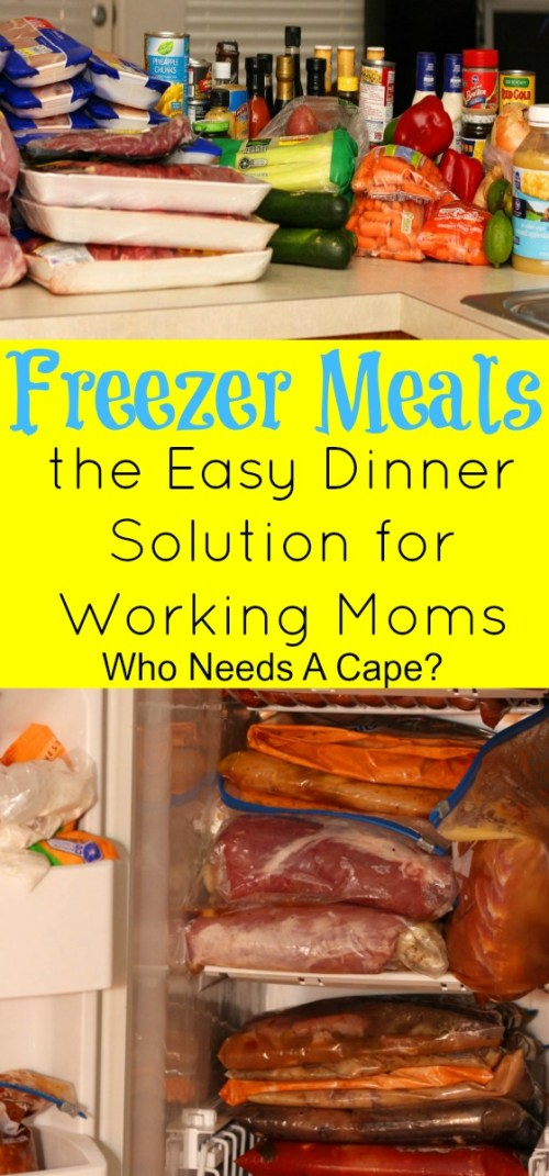 Find out how Freezer Meals are the Easy Dinner Solution for Working Moms. Enjoy a slow cooked meal on the table after a long day, you deserve that!