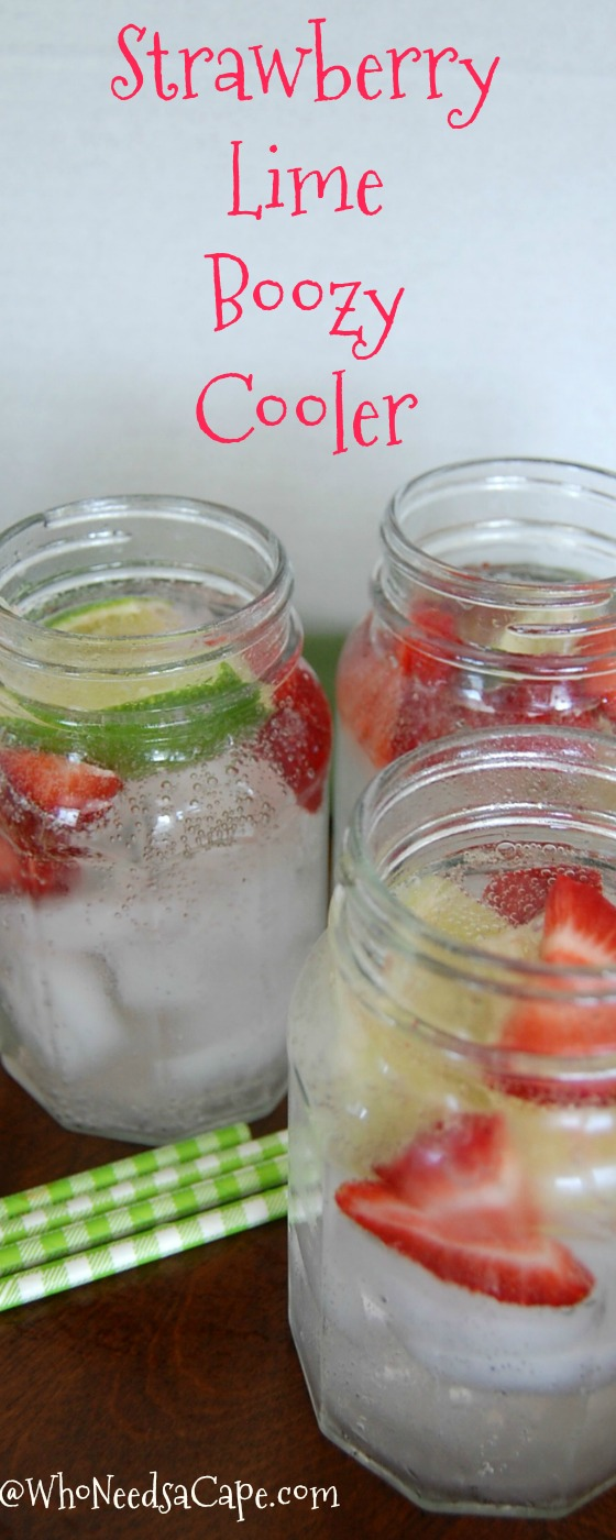 Refreshing Strawberry lime Boozy Cooler